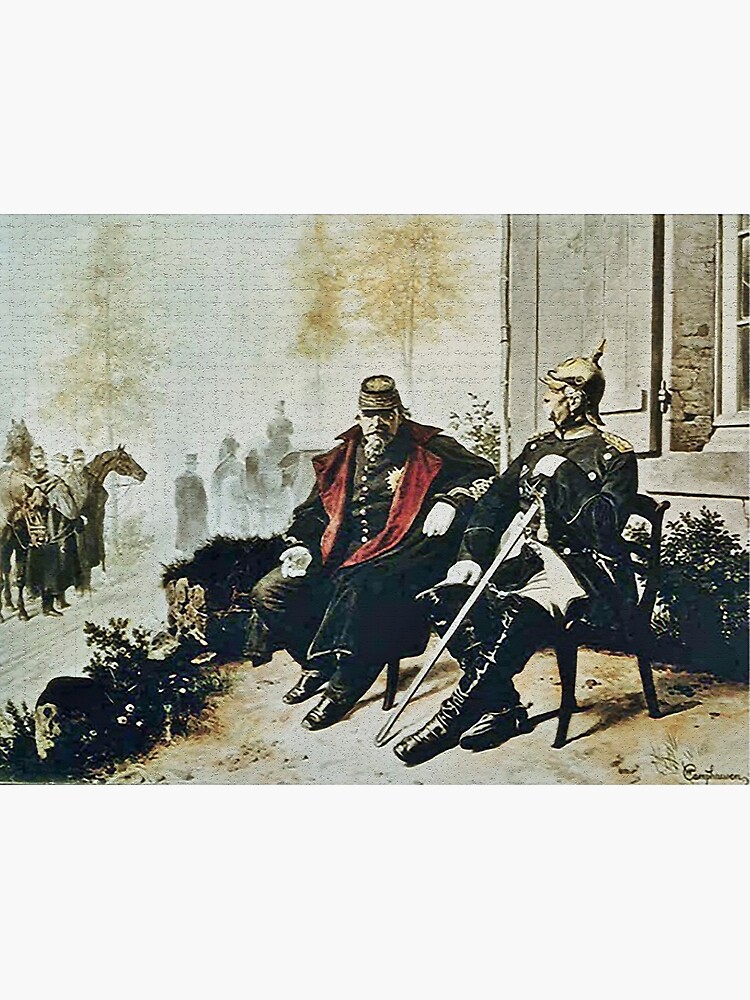 Bismarck and Napoleon III a after Prussia defeated the French by edsimoneit