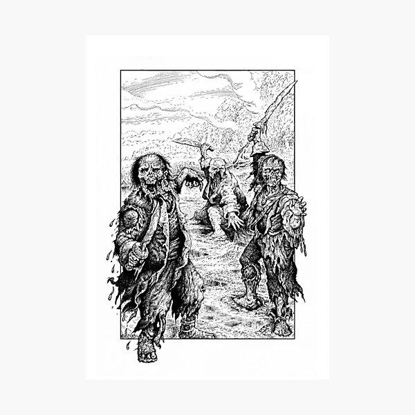 Zombie Pirates Photographic Print