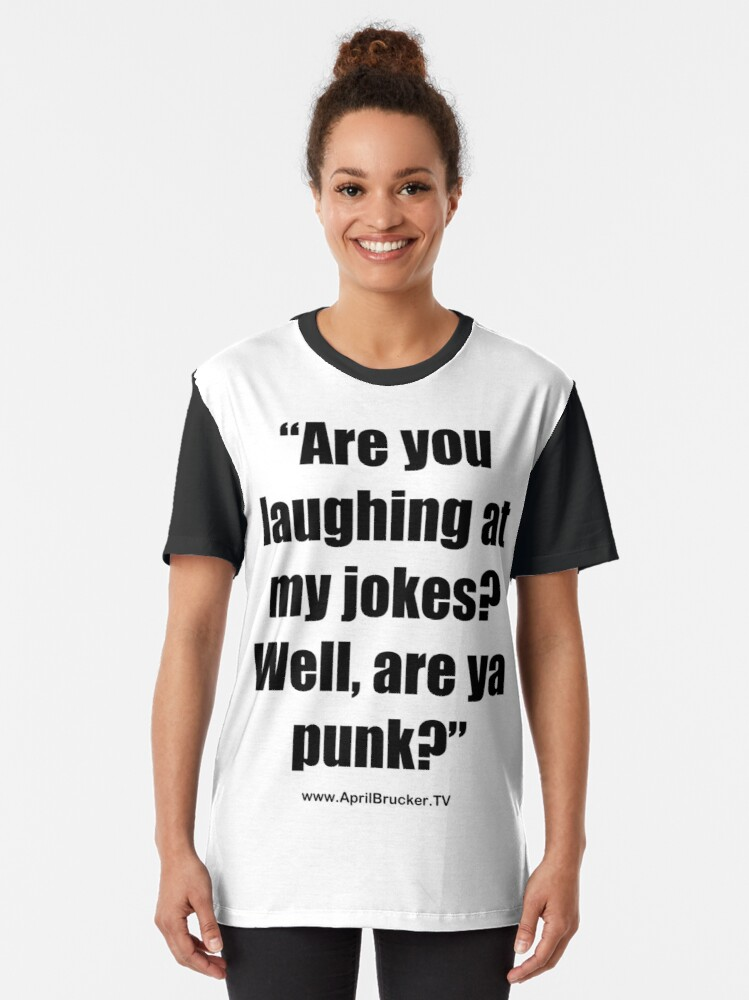 Alternate view of Are you laughing at My Jokes Graphic T-Shirt