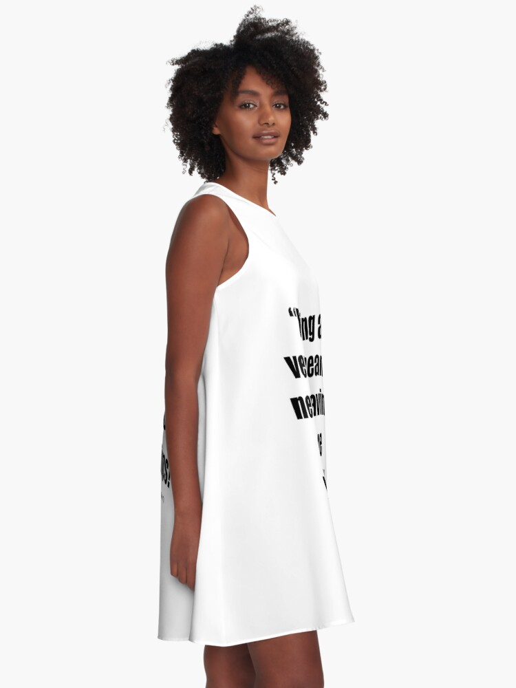 Alternate view of Never having to move your lips! A-Line Dress
