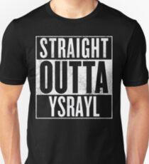 STRAIGHT OUTTA YSRAYL WHT Unisex T-Shirt