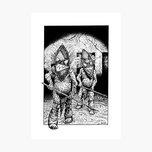 Mask Zombies Photographic Print
