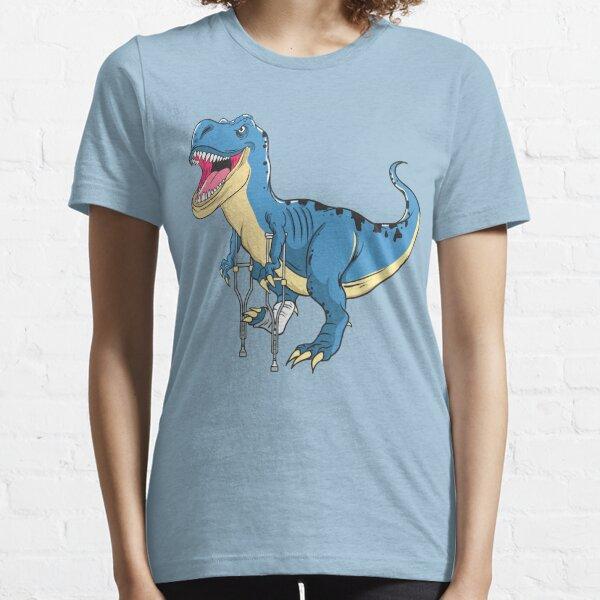 Dinosaurio de pierna rota Awww Snap Funny T Rex Broken Bone Camiseta esencial