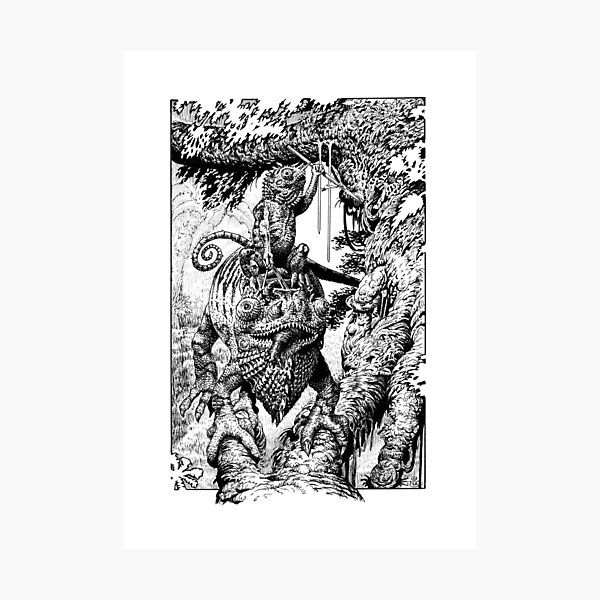 Chameleon Warrior Photographic Print