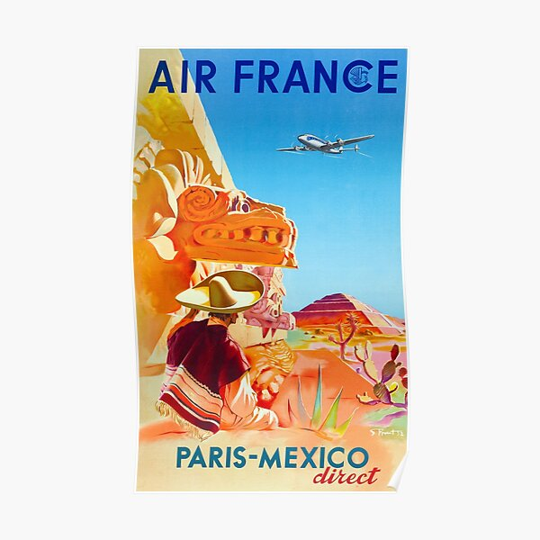 "Reproduction of a Vintage Style Air /""India/"" Travel Poster from 1950/'s"
