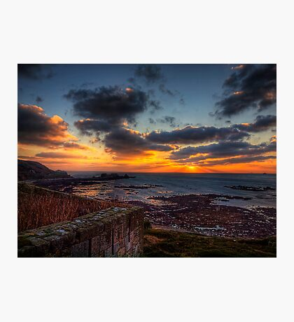 Sunset from the Wall of Fort Tourgis - Alderney Photographic Print