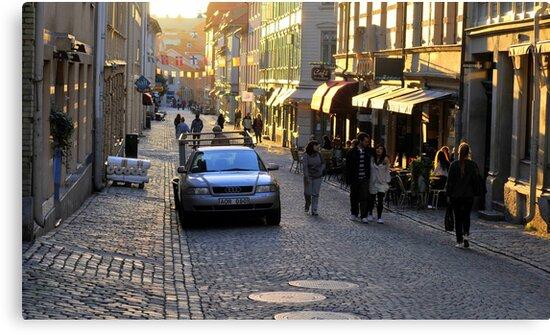 City Atmosphere Gothenburg Sweden by HELUA