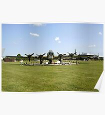 WW2 B17 Flying Fortress bomber plane Poster
