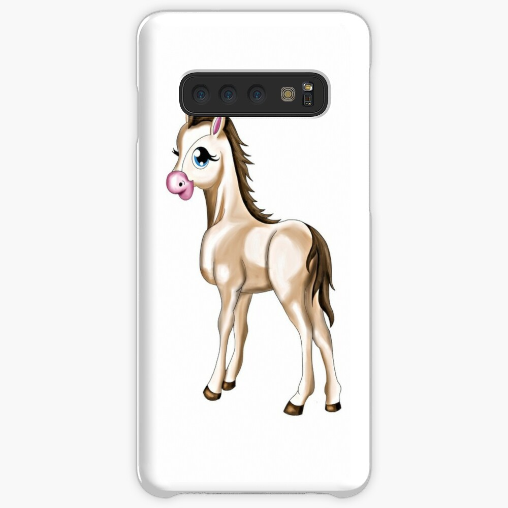 Cute Baby Horse Case Skin For Samsung Galaxy By Oliviaossege Redbubble
