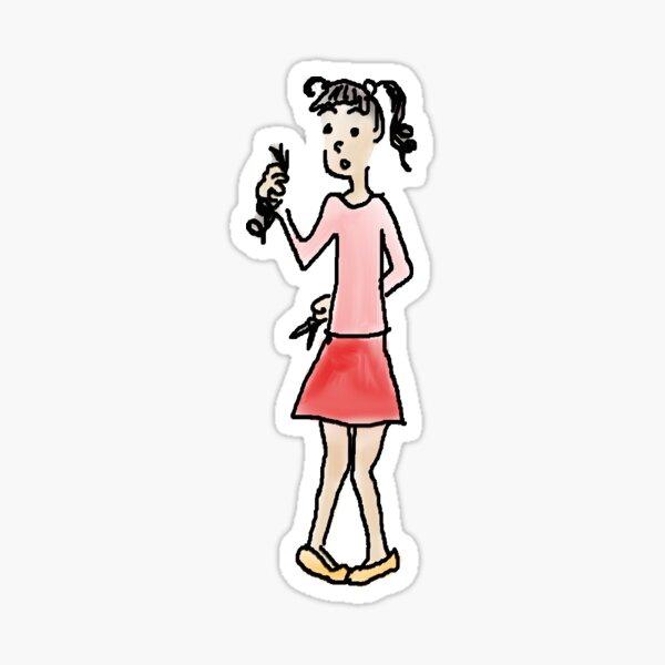 Scissors can be dangerous original illustration Sticker