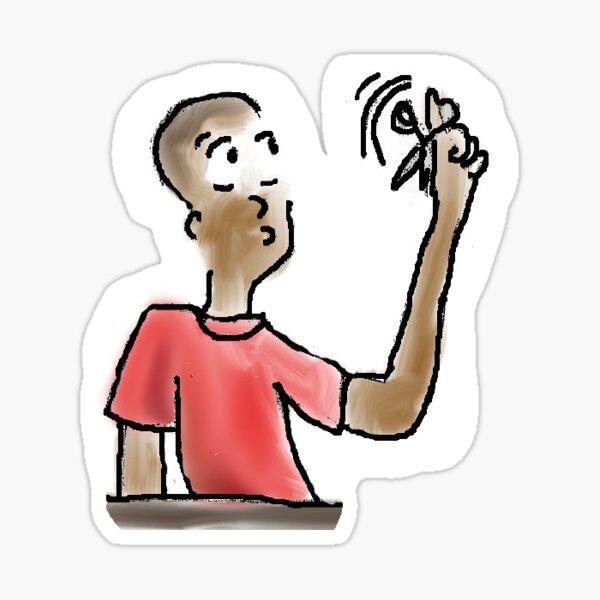Scissors can be fun to spin original illustration Sticker