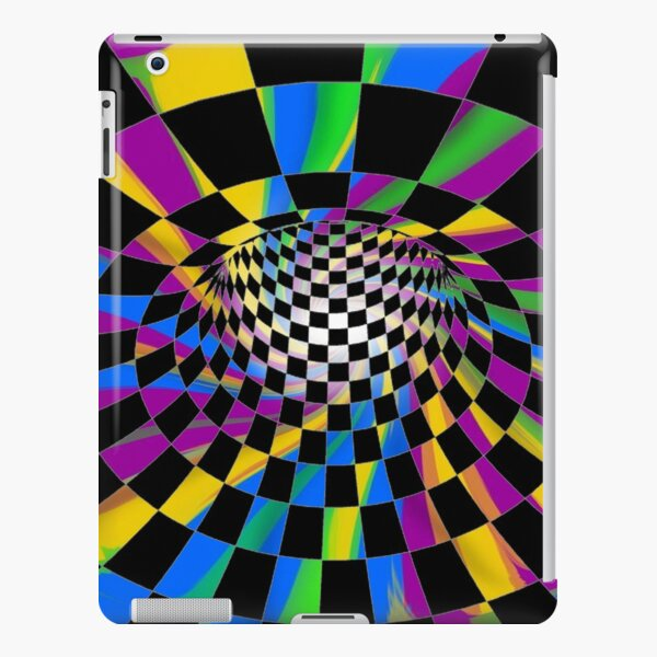 Chess, #Checkered, #Spinning, and #Curving #Tunnel Painted in Manner of Chessboard iPad Snap Case