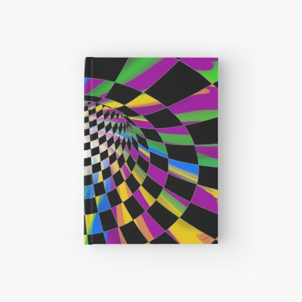 #Checkered, #Spinning, and #Curving #Tunnel Painted in Manner of Chessboard Hardcover Journal