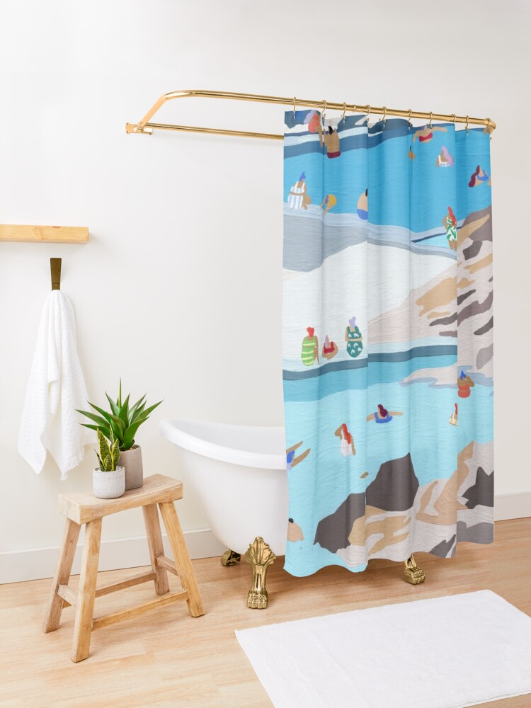 Alternate view of Rock pools Shower Curtain