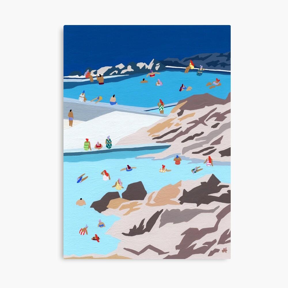Rock pools Canvas Print