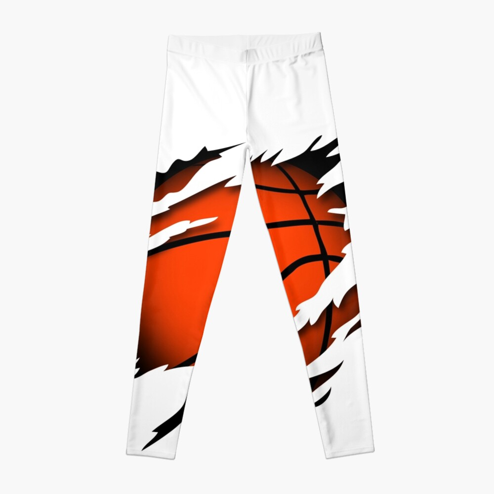 Basketball in the heart basketball player passion Leggings
