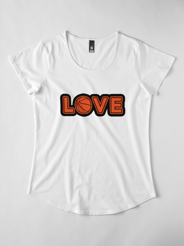 Alternate view of Basketball Love passion to the sport Premium Scoop T-Shirt