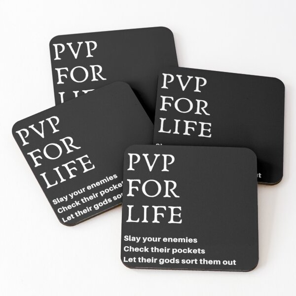 PVP For Life T-shirt Coasters (Set of 4)
