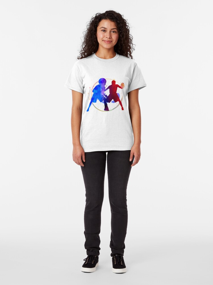 Alternate view of basketball player duel fight Classic T-Shirt