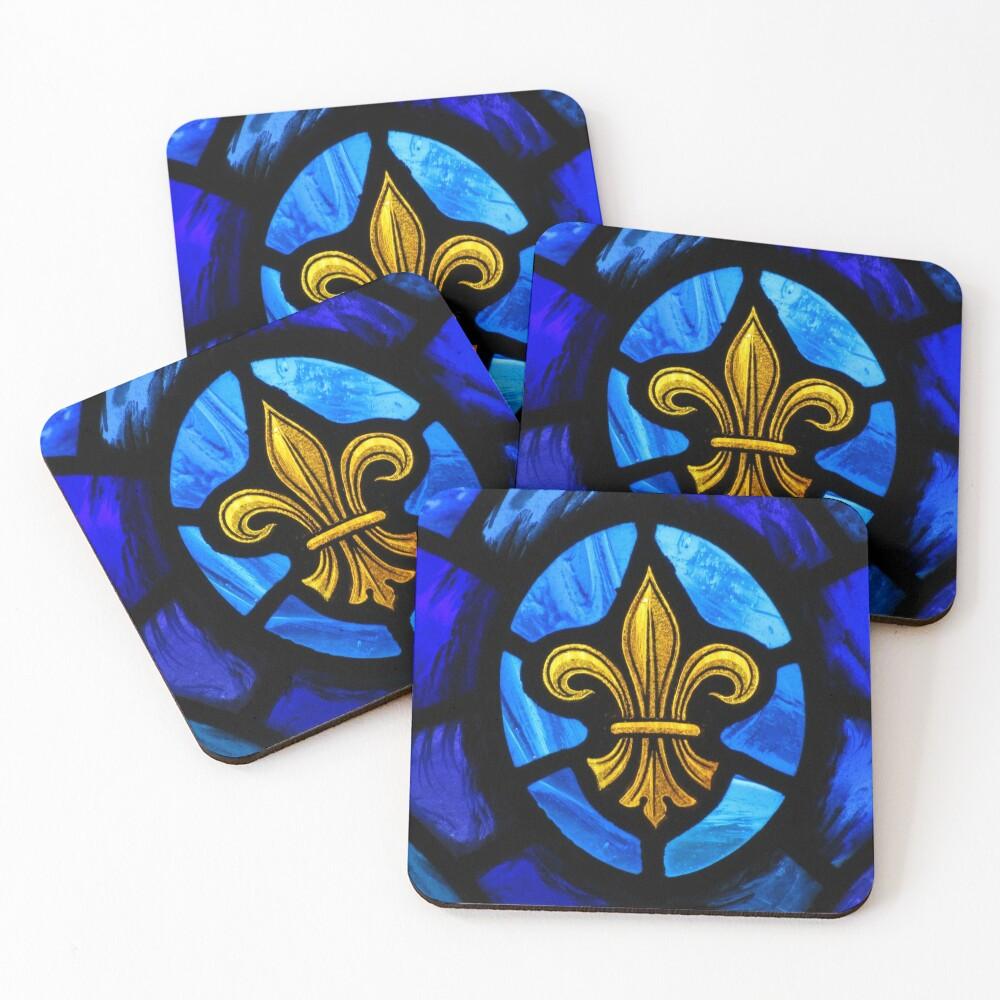 Fleur De Lys Coasters (Set of 4)
