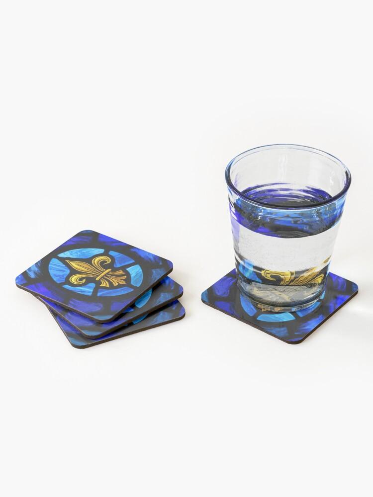 Alternate view of Fleur De Lys Coasters (Set of 4)