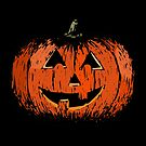 Vintage Happy Halloween Pumpkin by GhostlyWorld