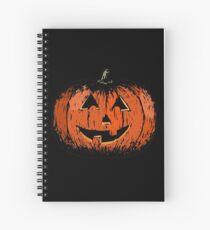 Vintage Happy Halloween Pumpkin Spiral Notebook