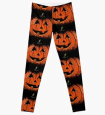 Vintage Happy Halloween Pumpkin Leggings