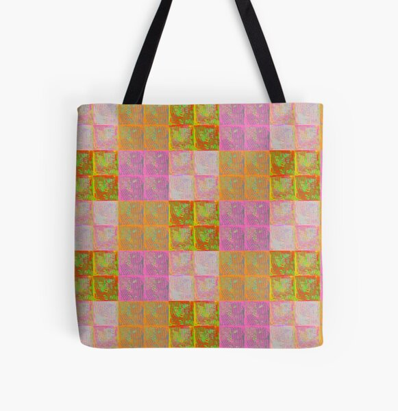 Floral tile collage All Over Print Tote Bag