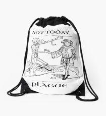 Not Today, Plague Drawstring Bag