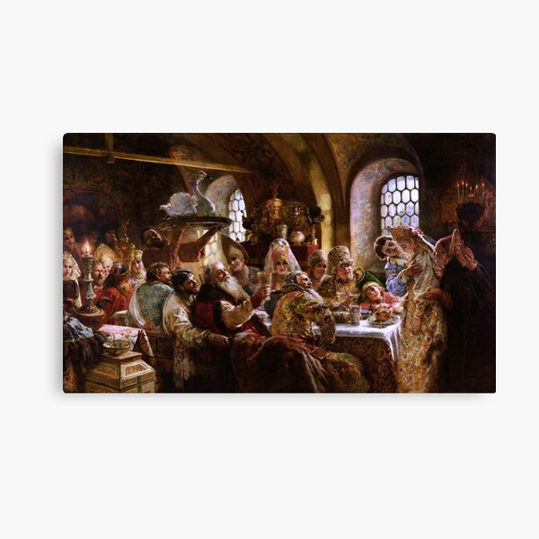 A Boyar Wedding Feast by Konstantin Makovsky Canvas Print