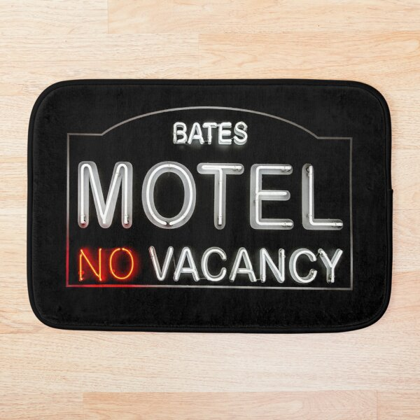 Bates Motel Sign Bath Mat