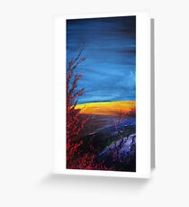 Purple Abstract Landscape Greeting Card