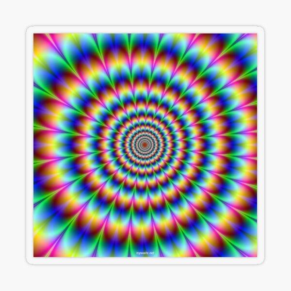#OpArt, #visual #illusion, #VisualArt, opticalart, opticalillusion, opticalillusionart, opticalartillusion, psyhodelic, psichodelic, psyhodelicart Transparent Sticker
