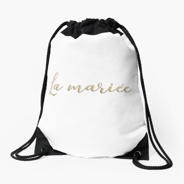 La mariée  Drawstring Bag