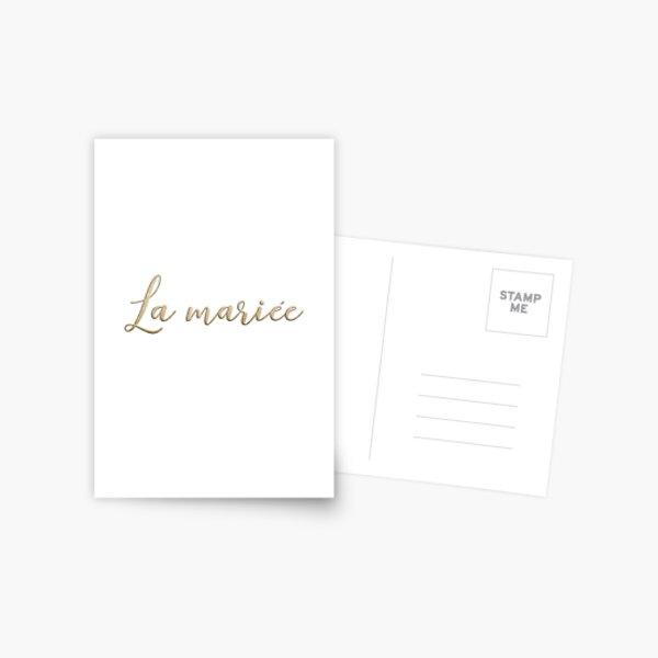 La mariée  Postcard
