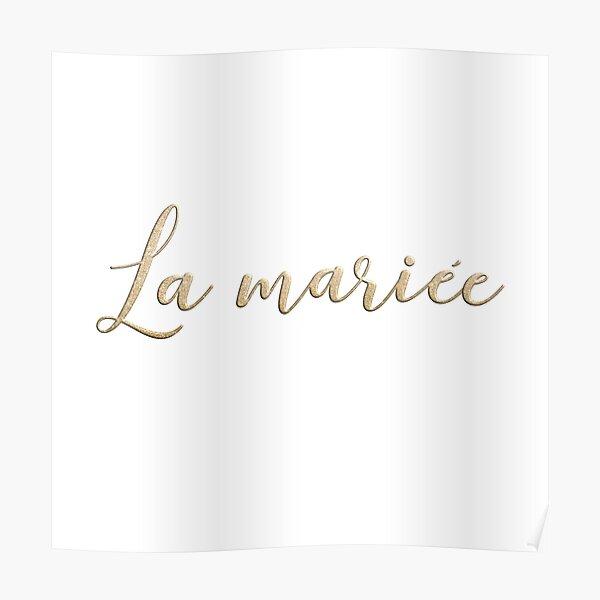 La mariée  Poster
