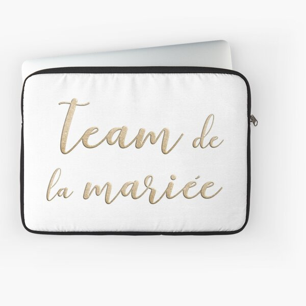 Team de la mariée  Laptop Sleeve