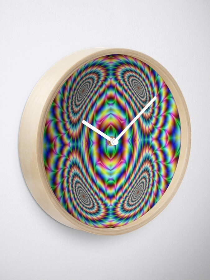 Alternate view of #OpArt, #visual #illusion, #VisualArt, opticalart, opticalillusion, opticalillusionart, opticalartillusion, psyhodelic, psichodelic, psyhodelicart Clock