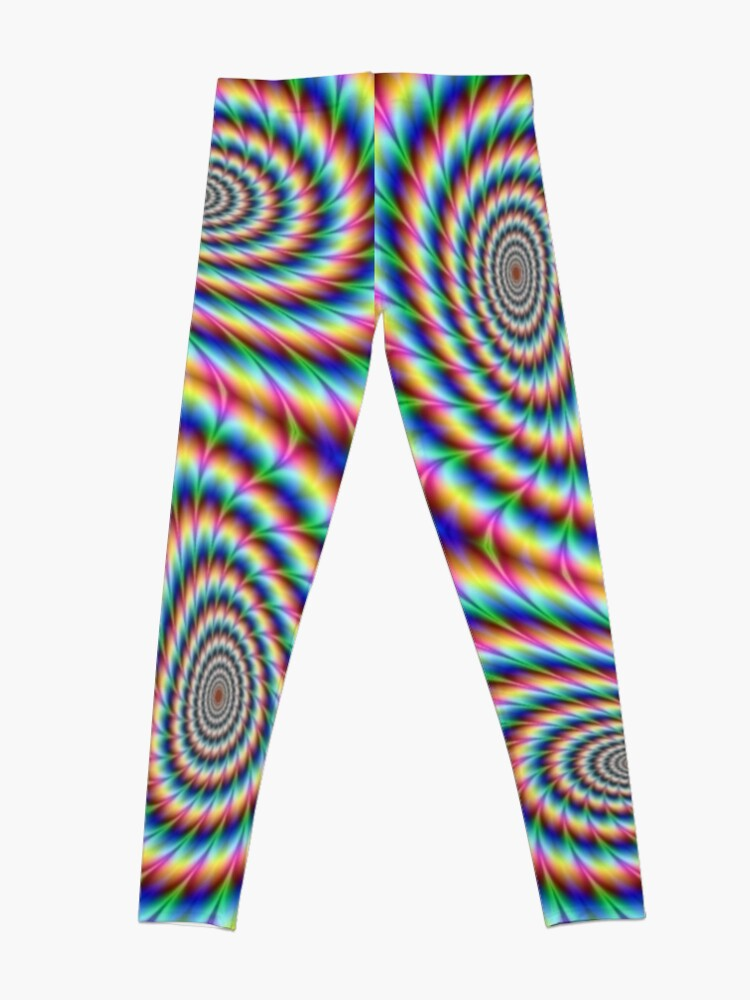Alternate view of #OpArt, #visual #illusion, #VisualArt, opticalart, opticalillusion, opticalillusionart, opticalartillusion, psyhodelic, psichodelic, psyhodelicart Leggings