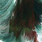 Surging Waves: fluid acrylic pour painting; stormy sea by kerravonsen