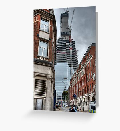 The Shaping of the Shard Greeting Card