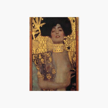 Judith and the Head of Holofernes (also known as Judith I) is an oil painting by Gustav Klimt created in 1901. It depicts the biblical character of Judith Art Board Print