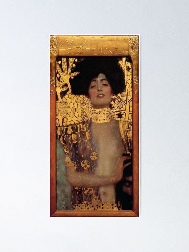 Alternate view of Judith and the Head of Holofernes (also known as Judith I) is an oil painting by Gustav Klimt created in 1901. It depicts the biblical character of Judith Poster