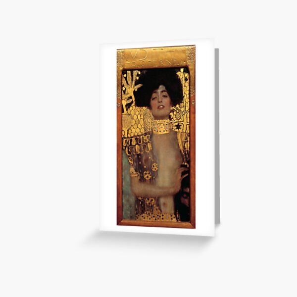 Judith and the Head of Holofernes (also known as Judith I) is an oil painting by Gustav Klimt created in 1901. It depicts the biblical character of Judith Greeting Card