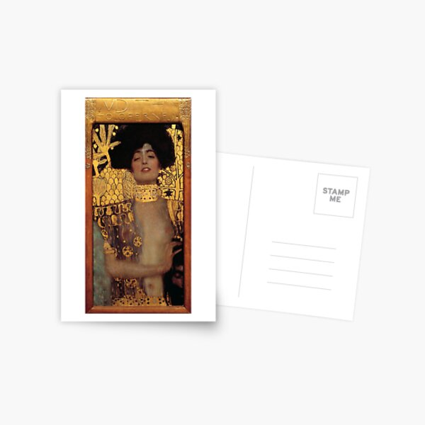 Judith and the Head of Holofernes (also known as Judith I) is an oil painting by Gustav Klimt created in 1901. It depicts the biblical character of Judith Postcard