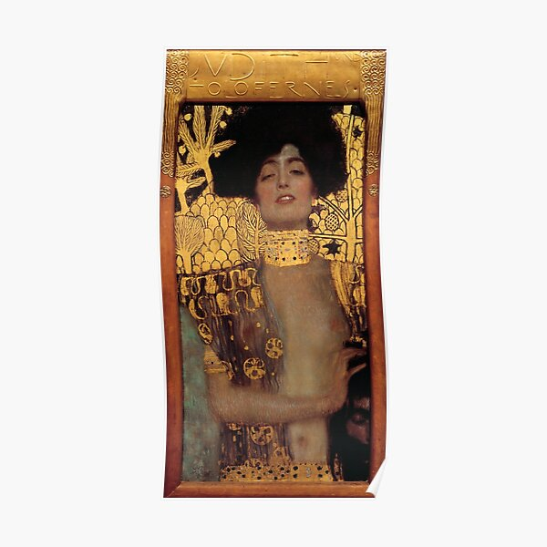 Judith and the Head of Holofernes (also known as Judith I) is an oil painting by Gustav Klimt created in 1901. It depicts the biblical character of Judith Poster