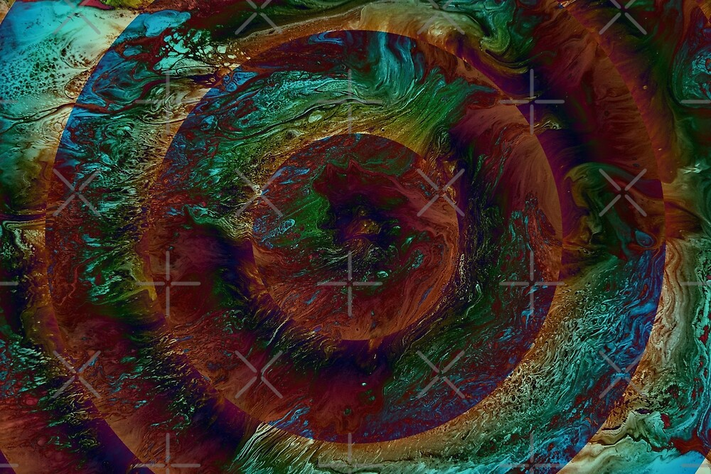 Time Dilation: fluid acrylic pour painting, digital art by kerravonsen