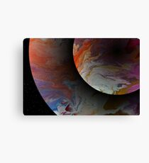 Twin Planets Canvas Print