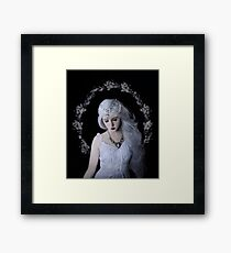 Moon girl child beauty Framed Print